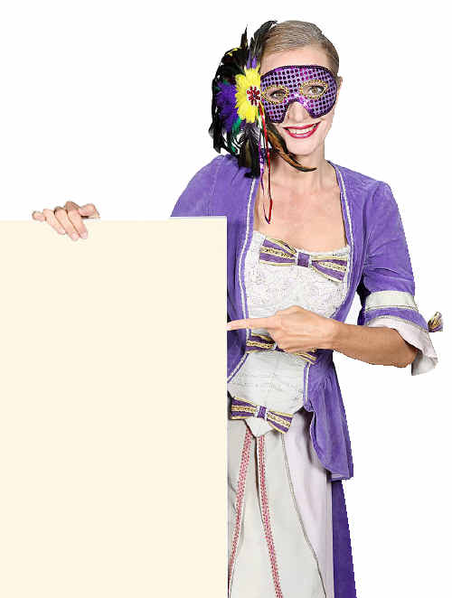 Think outside the box to create a unique fancy dress costume.