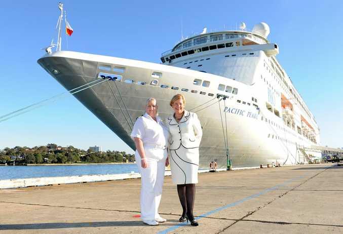 Captain Sarah Breton and Ann Sherry.