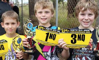 11-years boys winners Kane Von Nida, Cameron Jaenke and Matthew Robson.