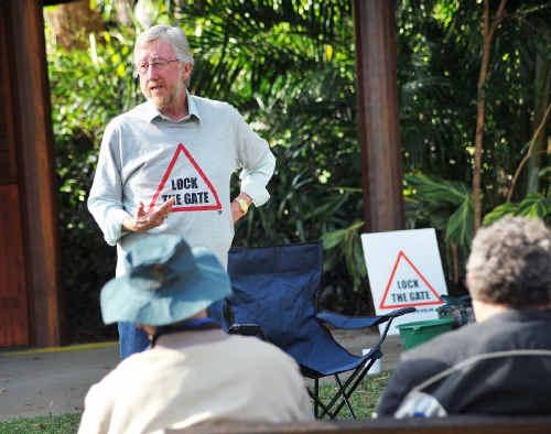 'Lock the Gate' speaker Michael McNamara at a mining information session.