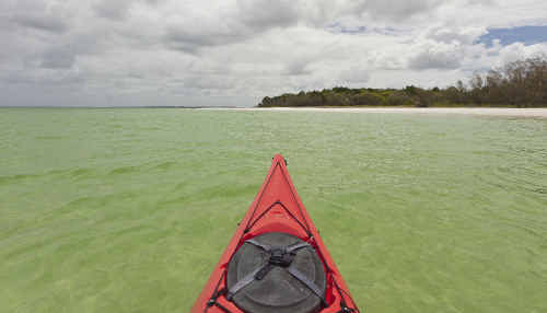 The crystal clear waters of Platypus Bay are one of Andrew Gregory's favourite kayaking spots in Australia.