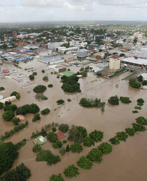 Flooding in Ipswich in 2011.