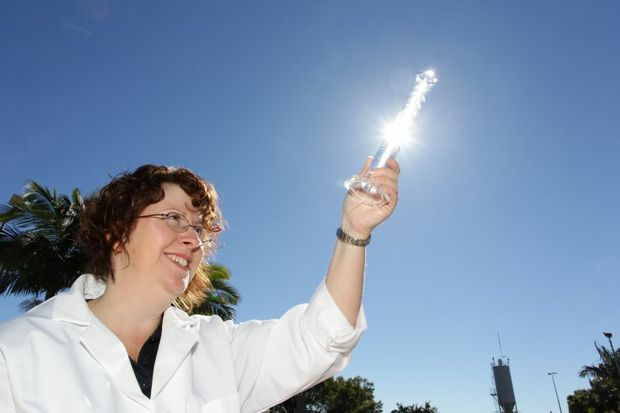 Unitywater microbiologist Dr Tracey Wohlsen has discovered a more efficient way to test water.