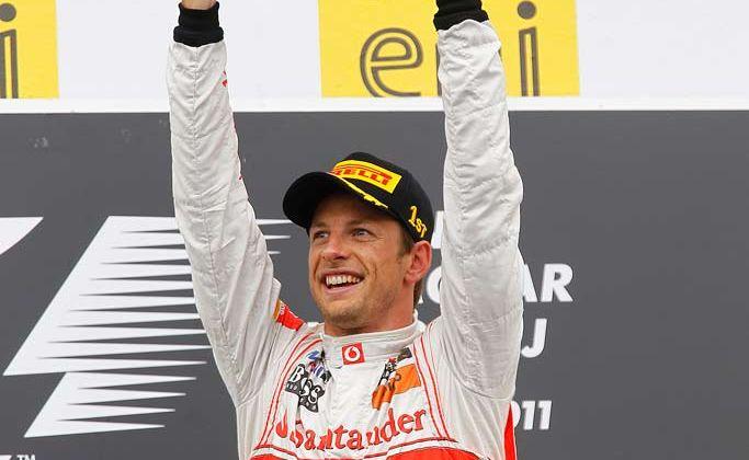 Jenson Button wins the Hungarian Grand Prix.