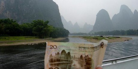 The Li River (also shown on the 20-yuan note) provides a great photo opportunity.