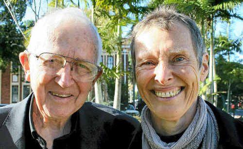 Father Paul Glynn and Sabina Baltruweit.