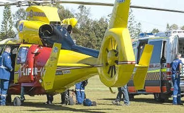 A parachutist was airlifted from Kingsford Smith Park in Ballina by the Westpac Lifesaver Rescue Helicopter yesterday after a poorly judged landing.