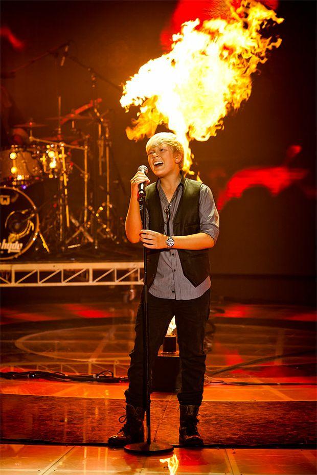 Former Whitsunday resident Jack Vidgen performing on Australia's Got Talent.