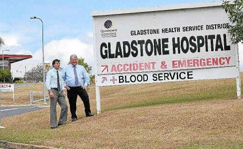 Shadow Parliamentary Secretary for Regional Health Services Andrew Laming MP with Federal Member for Flynn Ken O'Dowd at Gladstone Base Hospital on Thursday afternoon.