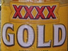 Beer drinker cracks at XXXX logo