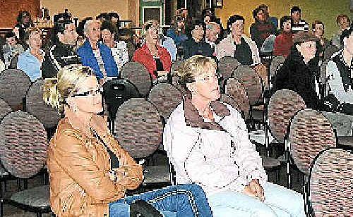 The hendra information night at Mullumbimby Ex-Services Club.