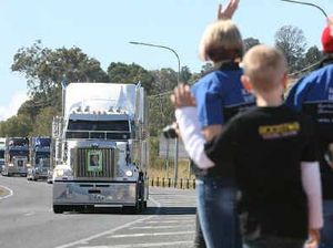 Big rigs salute lost truckies