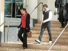 Melanie Lawton and Wayde Thorne Goltz leave the Rockhampton courthouse on Friday. Goltz received a suspended sentence for breaking the jaw of his girlfriend's brother.