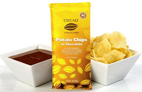 Potato Chips in Chocolate Bar.