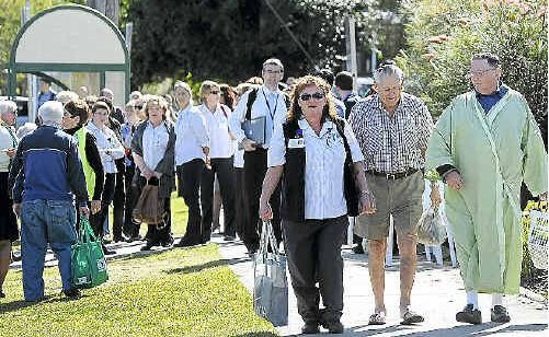 Staff and some patients were evacuated from the Mental Health Campus and the Cancer Care Unit at the Lismore Base Hospital.