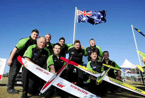 The Australian F3D team prepare themselves for competition at the 2011 F3D RC Air Racing World Championships.
