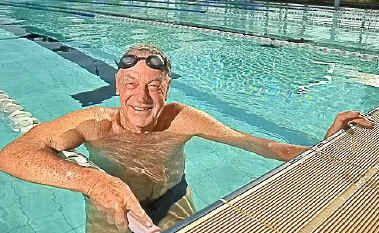 FIT TO BUST: Bob Sherwell, 81, is lining up again for the Island Charity Swim.