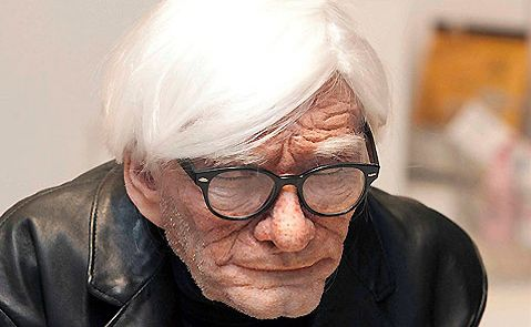 Edgar Askelovic's hyper-realistic sculpture of Andy Warhol.