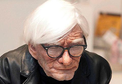 Edgar Askelovic's hyper-realistic sculpture of Andy Warhol.