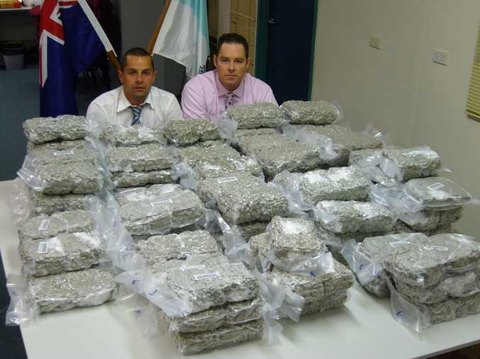 Coffs Harbour police have uncovered 94 kilograms of cannabis, worth almost $2 million inside a car stopped on the Pacific Highway.