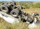 Cement truck rollover on slope