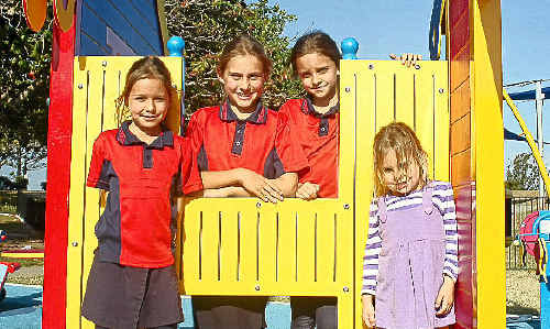 Sisters, Mia, Krista, Jade and Brooke Baguley want Cr Stephen Schwarten to think about the children of Yeppoon when deciding what to put on the Yeppoon foreshore site.