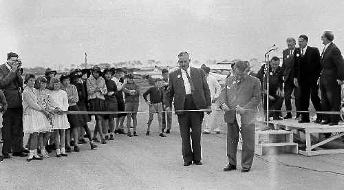 The official opening of the Sunshine Coast Airport on August 12, 1961.