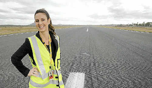 Sunshine Coast Airport's Stacy Madden will help celebrate the airport's 50th birthday on Saturday.