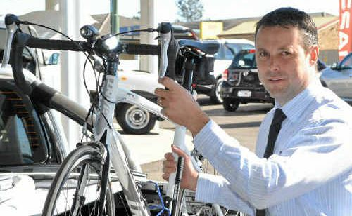 Peter Stewart Automotive Warwick dealer principal Chris Murphy is competing in the Nissan K's 4 Country Kids Ride to raise funds for the Royal Children's Hospital.
