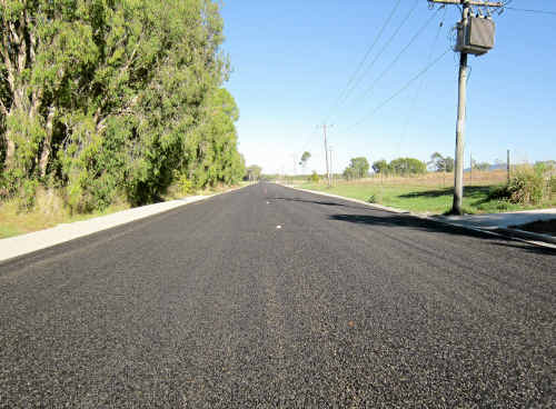 The upgraded Keeleys Rd at Slade Point.