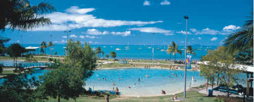 ON THE CARDS: The Coast could have a facility like Airlie Beach Lagoon.