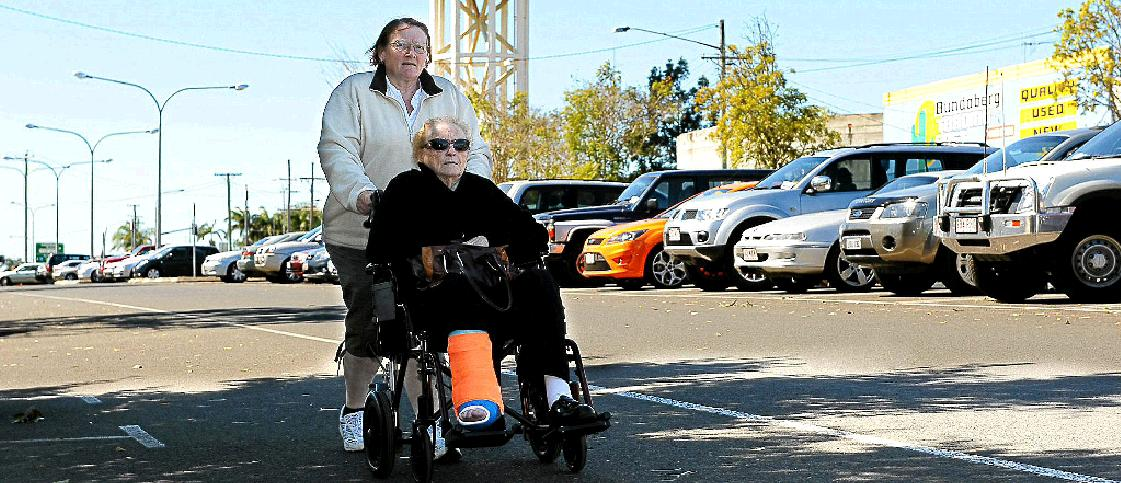 Helen Chester and her mum, Beverley, are sick of the long walks from their car to the hospital because of a serious lack of parking.