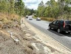 The scene of Saturday's fatal crash on the Bruce Highway at Apple Tree Creek.