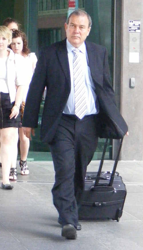 Morcombe family lawyer Peter Boyce at Brisbane Magistrates Court.