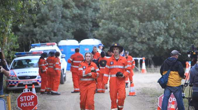 Search for Daniel Morcombe at Kings Road, Glasshouse Mountains. Photos: Jason Dougherty