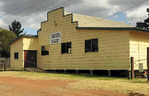 """The Cabarlah Community Hall was used by the Highfields Rugby League Club as the venue of questionable """"fundraising"""" techniques."""
