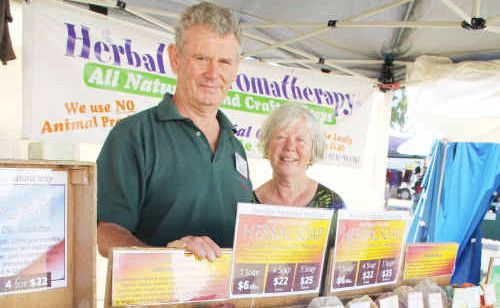 Ernie and Renata Semmens with Harmony Soapworks' handmade luxuries.