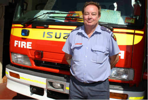 QFRS GATTON STATION Officer Noel Einam urges residents to get prepared for the fire season.