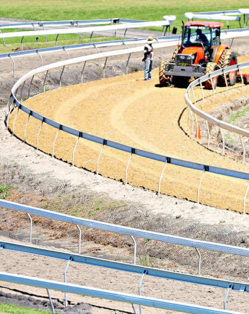 Contamination of the Pro-ride track at Coffs Harbour racecourse is causing budget blow-outs and increasing concern.
