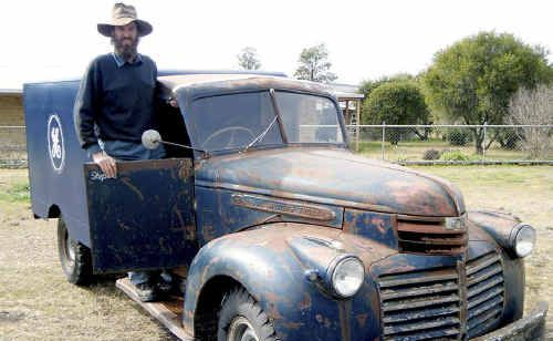 Jeff Gotz spent eight months working tirelessly to restore this 1942 ex-army ambulance, which he hopes will get him to Western Australia for the National Historical Machinery Rally.
