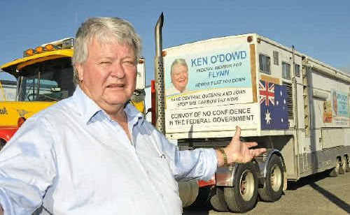 Federal member for Flynn, Ken O'Dowd will be leaving Gladstone tomorrow to drive to Canberra as part of a