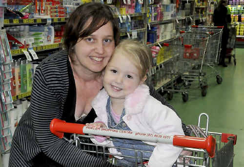 Young mother Jodie Adams, with her daughter August Graham, says Toowoomba Regional Council's latest rate rise is just going to make it tougher.
