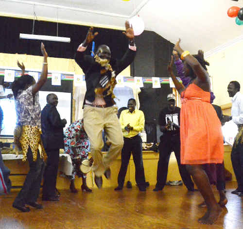 Celebrations at the South Sudan Independence Day Cultural Festival at St John's hall.