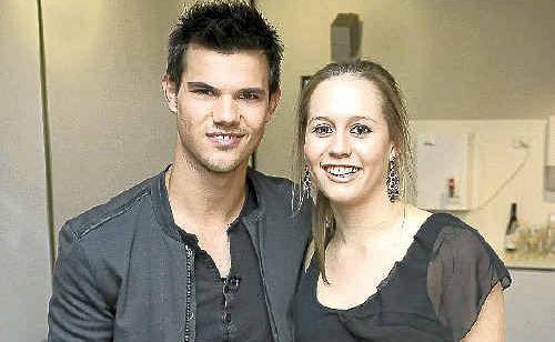 Sophie Thoresen, of Mountain Creek, was ecstatic to meet Taylor Lautner.