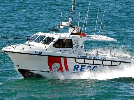 New marine rescue boat.