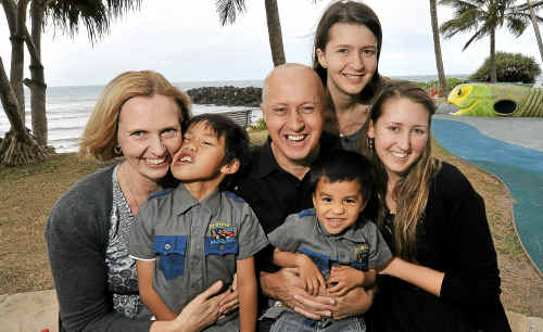 Roger Lehmann, pictured with wife Fiona and children Kyle, Eric, Tayla and Ashlee, has just been announced as the Sunshine Coast and Wide Bay Father of the Year.