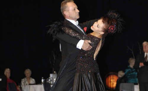 David and Irena Brooks performing the waltz at the Tasmanian Dancesport Championships.