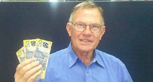 Ernie Brock was Monday's winner of The Bully's $150 a day competition.
