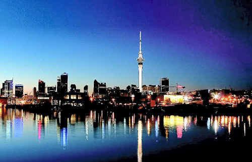 CITY SILHOUETTE: Auckland at night is quite a sight.