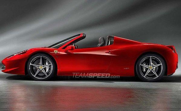 Ferrari 458 Spider. Picture: Teamspeed.com.